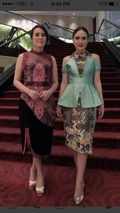 Batik Kebaya, Kebaya Dress, Blouse Batik, Batik Dress, Thai Dress, Dress Up, Dress Batik Kombinasi, Batik Fashion, Traditional Dresses