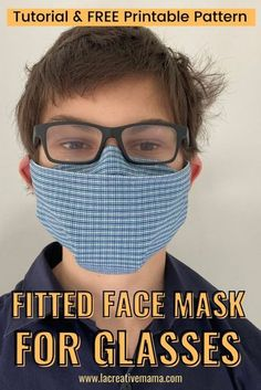How to make a great fitted face mask for glasses - La creative mama Glasses, Face, Fitness, Creative, How To Make, Eyewear, Eyeglasses, Eye Glasses, Faces