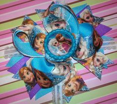 Disney's FROZEN Anna & Elsa Inspired Bow by MandasBowtiqueAMM