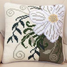 Corner Flower Cushion Front Chunky Cross Stitch Kit   sewandso