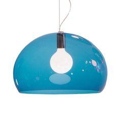 FL/Y+lampe,+blå,+Kartell