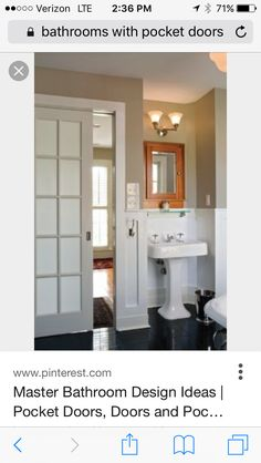 Amazing Pocket Doors For Bathroom 8 Ways To Make A Small Look Bigger  Remodel 22