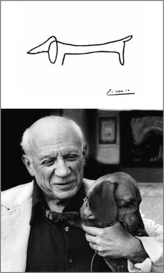 Picasso and Lump. My heart melted when I read the story of this lovable tailwagger and his friend Picasso