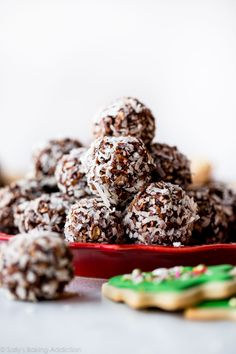 These no-bake chocolate coconut snowballs add a fun and festive flair to any Christmas cookie dessert tray! They're easy to make and freeze wonderfully.