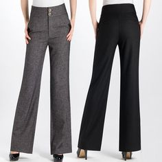 Women female trousers wide leg Speaker OL ladies trousers formal women pants slim suit pants plus size Formal Trousers Women, Pants For Women, Clothes For Women, Slim Pants, Wide Leg Pants, Slim Suit, Business Casual Outfits, Office Outfits, Simple Outfits