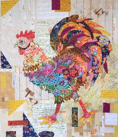 Doodle Doo Rooster Collage Kit by Laura Heine