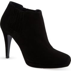 KAREN MILLEN Heeled suede shoe boots (€125) ❤ liked on Polyvore featuring shoes, boots, ankle booties, heels, sapatos, ankle boots, black, black suede bootie, faux suede booties and black suede booties