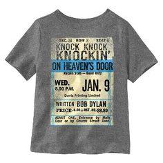 Lyric Culture® Toddler Boys' Bob Dylan T-Shirt - Charcoal Heather