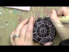Behind the Art with Christy Tomlinson January Mixed Media kit: stamp carving