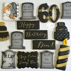 Over The Hill Themed Sugar Cookies Designer Desserts