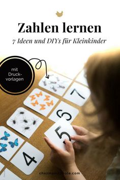 Learning Numbers: 7 Ideas for Number Games (including artwork) - lernen - Baby Activities Preschool Learning, Learning Centers, Preschool Crafts, Teaching Kids, Math Worksheets, Maths Puzzles, Infant Activities, Activities For Kids, Math Pages