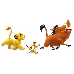 Bring the magic of Disney's The Lion King into any room with these giant wall decals of Simba, Timon, and Pumbaa. Application is a breeze: just peel each pre-cut sticker . The Lion King, Lion King Timon, Lion King Party, Lion King Birthday, Disney Magic, Disney Mickey, Mickey Mouse, Rey Leon Wallpaper, Image Tatoo