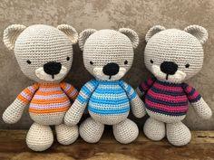 Amigurumi osito a crochet by Missaquitos Teddy Bear, Toys, Animals, Activity Toys, Animales, Animaux, Clearance Toys, Teddy Bears, Animal