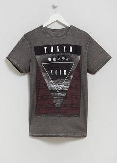 Tokyo Graphic Printed T-Shirt - Matalan