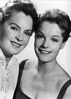 """1956 - Romy Schneider & Magda Schneider - époque """"Kitty"""""""