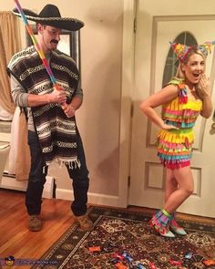Mexican and Pinata Costume - Halloween Costume Contest via @costume_works