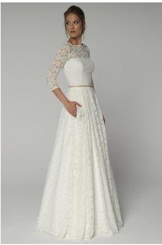 Ein wunderbares Kleid aus einzigartiger Häckelspitze.