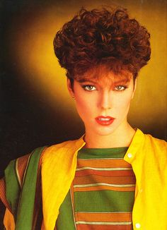 Used to have my hair like this alot!  Loved the 80s styles.... Curls and clippers... Mmmhhh