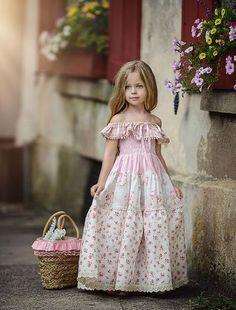 Pocketful Of Roses Frock - Dollcake Little Dresses, Little Girl Dresses, Girls Dresses, Flower Girl Dresses, Little Girl Fashion, Kids Fashion, Fashion Tips, Off White Dresses, Rose Dress