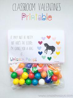 FREE Unicorn Valentine Printable - so easy and cute!