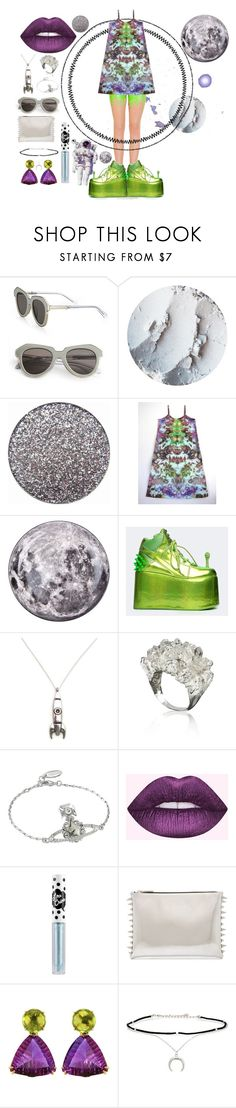 """pay close attention"" by onlyethical ❤ liked on Polyvore featuring Karen Walker, Seletti, Y.R.U., Vivienne Westwood, Lime Crime, NOL Jewellers and Jules Smith"