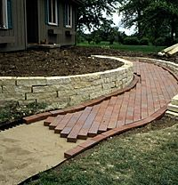 Build a Beautiful Brick Pathway or Patio - Brick Garden Path: Step 5 - Brick Pathway, Brick Garden, Garden Paths, Outdoor Walkway, Outdoor Landscaping, Outdoor Gardens, Landscaping Ideas, Gravel Walkway, Walkway Ideas