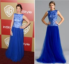Bellamy Young of #Scandal looked absolutely royal when she attended the Instyle After Party at the #GoldenGlobes wearing Tadashi AEE1253L. Shop NewYorkDress at NewYorkDress.com or follow our blog at www.NewYorkDress.com/blog. #fashion #party #prom #wedding #newyork #gowns #dresses #accessories
