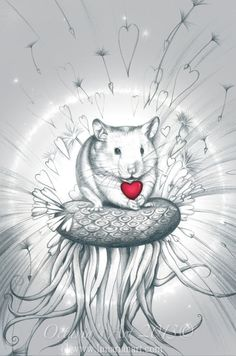 Make a Wish  Cute Hamster  Pet Hamster  Syrian by Lunarianart, £9.95