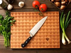 A personalized cutting board is a sweet gift for your favorite couple.