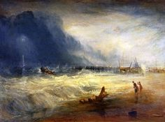 Lifeboat Rescuing Vessel in Distress with Manby Apparatus, by J.M.W. Turner (Print On Demand)