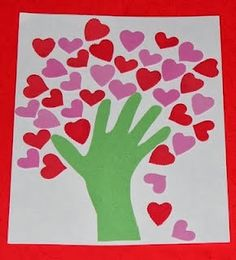 50 Creative Valentine Day Crafts for Kids.  Work-related, one could use the hearts to represent  all the things that make a child feel loved as a self-esteem activity.