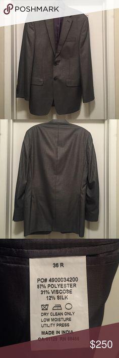 2 Button Calvin Klein textured grey blazer Two-button Textured grey Calvin Klein blazer / 36R / Calvin Klein Jackets & Coats Blazers