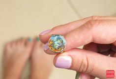 Hey, I found this really awesome Etsy listing at https://www.etsy.com/listing/208693427/aqua-blue-ring-sea-ring-gift-idea