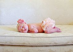 ruffles bloomers diy headband brooch baby girl tiny newborn photograph