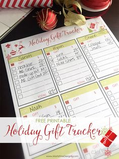 This holiday season, do you need an organized way to keep all of the gifts you buy for family and friends? Use this Holiday Gift Tracker Free Printable!