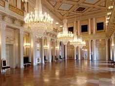 The ballroom at The Royal Palace in Oslo, Norway Beau Rivage, Venus, Royal Court, Ballrooms, Royal Palace, Ceiling Design, Cool Photos, Mansions, House Styles