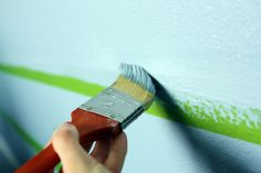painting stripes on textured walls