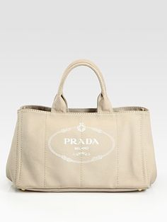 prada printed logo denim tote bag