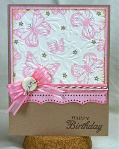 Stamping on embossing, pretty