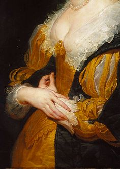 PORTRAIT OF A WOMAN BY PETER PAUL RUBENS, CA. 1625-30 (DETAIL)