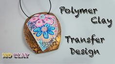 DIY Colored Zentangle Pendant - Polymer clay tutorial Design transfer by MoClay