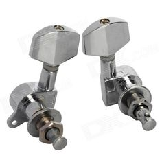 Color: Silver - Material: Iron - Compatible with folk Guitar / electric guitar - Application: Guitar string tuning peg - Features tone tuning - Packing list: - 2 x Tuning pegs http://j.mp/1lkpXsj