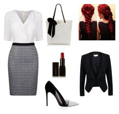 Conference call by vjwilkerson on Polyvore featuring polyvore fashion style BOSS Black Patrizia Pepe Prabal Gurung Forever New Illamasqua clothing