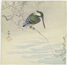 Kingfisher, Ohara Koson, c. 1920