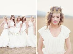Beautiful shoot for a new Bridal magazine. Love the hair and makeup in the photo on the right!