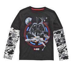 Lego Starwars Boys Log Sleeve Tee Shirt: Shopko