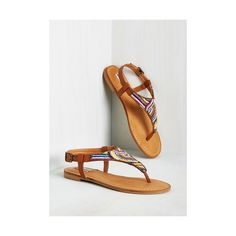 Boho Bead You Adieu Sandal (1.945 RUB) ❤ liked on Polyvore featuring shoes, sandals, brown, slingback, thong slingback, brown sandals, flat shoes, buckle sandals, slingback shoes and sling back flats