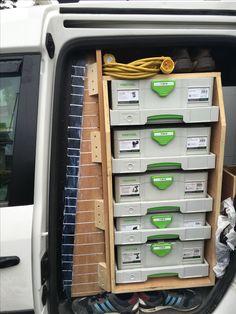 Sys-AZ drawers in Sprinter Trailer Organization, Trailer Storage, Truck Storage, Storage Organization, Van Storage, Tool Storage, Van Shelving, Van Racking, Work Trailer