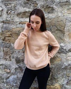 Blush sweatshirt / Fleece sweater / Blush fleece by DuffyPuff