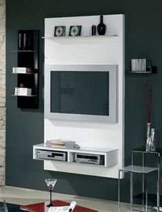 Mueble Panel Lcd - Organizador - Modulo - Tv - La Font